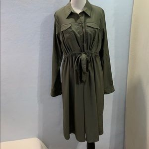 Maternity Army Green Dress - Isabel Maternity